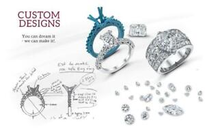 CUSTOM MAKE YOUR ENGAGEMENT RING OF YOUR DREAMS !!!!