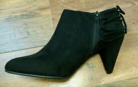 Black M&S Wide fit Ankle Boots size 6