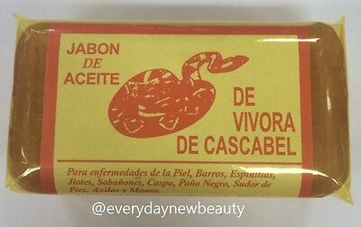 JABON DE ACEITE DE VIVORA DE CASCABEL Rattlesnake Soap for Acne Rashes Vibora