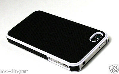 Hybrid Rugged Rubber Matte Hard Case CoverFor iPhone 4s / 4 + Screen