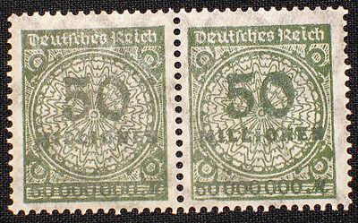 Deutsches Reich, Infla Abart, Plattenfehler Nr. 321 im Paar ** mit dicker Null