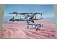 three prints of original painting by Wilfred Hardy C.Av.A,