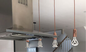 4 plumem copper drop pendants with bulbs