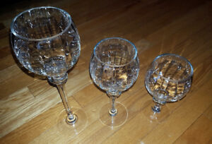 Long-Stem Glass Tealight/Candle Holders