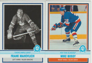 Frank Mahovlich & Mike Bossy 2009-10 OPC Legends + 4 cards