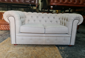 Fabric Taupe Chesterfield Sofa
