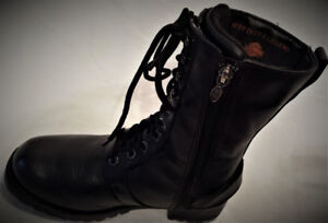 Bottes HARLEY Femme Taille 6 LACÉES-ZIPÉES 3 Courroies 70$ EAY