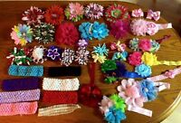 Hair clips, bows and headbands
