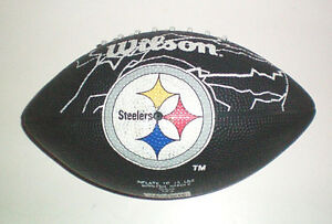 Pittsburgh Steeler Cap and Mini NFL Wilson Souvenir Football Set London Ontario image 1