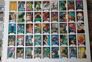 Ghost Rider uncut card sheet – Rare Collectible