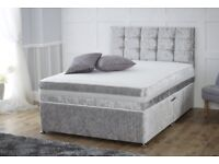 Crush velvet bed