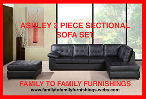 **HOT SUMMER SALE** ASHLEY SECTIONAL +FREE OTTOMAN