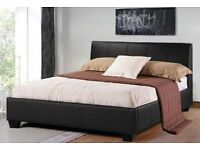 **100% GUARANTEED PRICE!**Double/Small Double Leather Bed With 11inch Full Orthopaedic Mattress||New