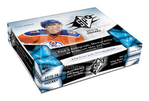 2015-16 Upper Deck SPx Hockey Cards Hobby Box