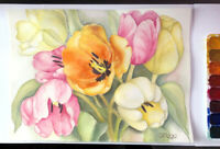 April watercolor painting classes for adults