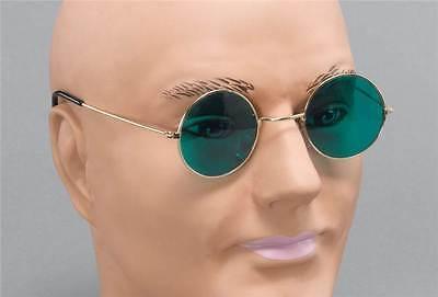 John Lennon Brille Grüne Linse 1960s 1970s Kostüm Zubehör, - John Lennon Kostüm Brille