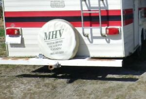 70s RV Bumper with spare tire mount
