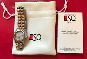 ESQUIRE WATCH BY MOVADO WOMAN'S TWO TONE DIVER 100 METER