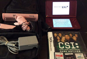 Nintendo DSI XL With Charger, Accessories and 4 Games
