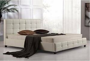 Brand New Ella Full Pu Leather Q Bed.We Can Deliver It Under 3 Hr Seven Hills Blacktown Area Preview