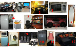Moving Sale - Please look @ the list for prices especially No.18