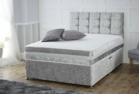 SALE SALE SALE ON CURUSH VELVET DIVAN BED WITH MATTRES 20% OFF pSeP