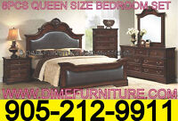 8PCS BEDROOM SET UNBEATABLE PRICE SOLID WOOD ONLY $1499