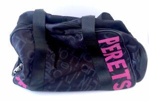 Joshua Perets Purse Handbag Black and Pink Contrast Spacious Big