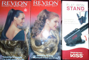 2 Revlon Ready to Wear Hair  and a Kiss Flat Iron Stand New