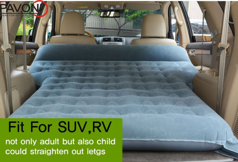Car Backseat Inflatable Sleeping Travel Mattress For Camping SUV RV Minivan
