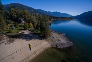 Waterfront Home on Kootenay Lake with 275 of Private Beach