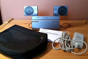 Sony SRS-T77 Active Speaker System, Cables, Case, like new!