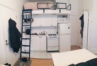 Lofted DT studio avail AUG 1 for sublet or lease transfer