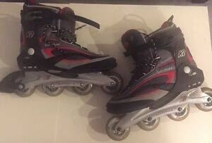 Men's K2 Catalyst Inline skates Size 14 w/wrist guards