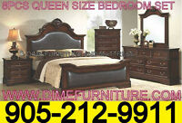 WE PAY THE TAX EVENT!! 8PCS BEDROOM SET