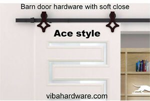 Rustic barn door hardware with soft close from $150