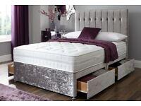VIENNA CRUSH VELVET BED SET & MATTRESS SALE