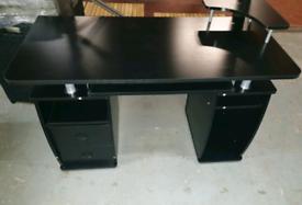 A new stylish black finish desk .