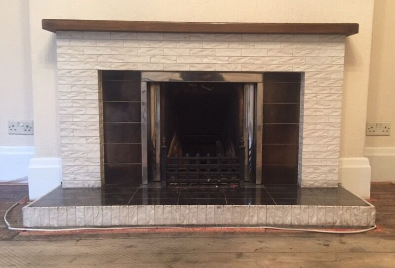 1950 39 S Tiled Fireplace Surround And Hearth In