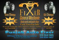 Offre spéciale pour Changement de pneus / de Changement d'huile