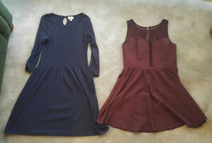 3 dresses, 1 skirt and top set, size large