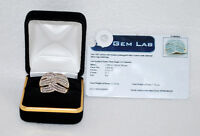 Lady's 10KT Gold Custom Made Diamond Ring (193 Diamonds)