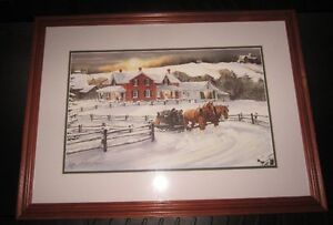 Two Walter Campbell framed prints - Winter Scenes