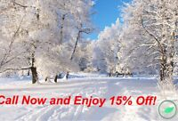 15% OFF Quality, Hassle FREE Snow Removal!
