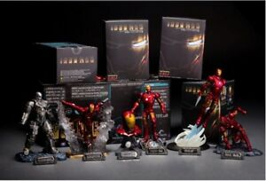 Iron Man Action Figures 6 Piece Set PVC 7cm-14cm with Retail Box