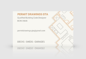 QUALIFIED BUILDING CODE DESIGNER - DECK PERMIT DRAWINGS