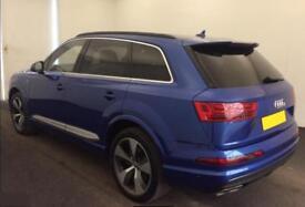 2016 BLUE AUDI Q7 3.0 TDI 272 QUATTRO S LINE DIESEL AUTO CAR FINANCE FROM 151 PW