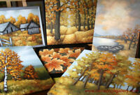 Acrylic nature painting classes for adults, South Ajax
