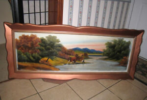 Nice Large Elongated Oil Picture