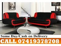 ZAP 50 % OFF ON SALE-----CWRAL WHITE AND BLACK 3+2 SEATER SUITE